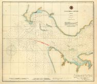 Columbia River Chart 1882 Washington, Columbia River Chart 1882 Washington